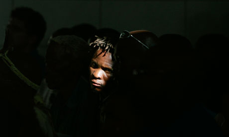 A female Kalahari bushman in the Botswana high court