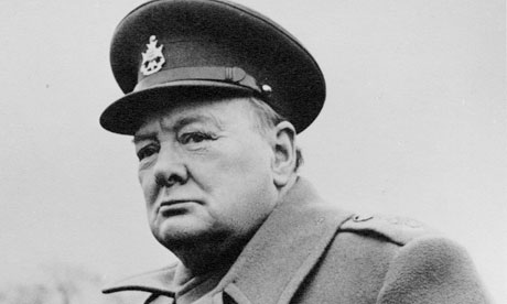 Official portrait of Winston Churchill  in 1945
