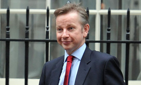 The education secretary Michael Gove