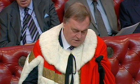 John Prescott new peers introduced to the House of Lords
