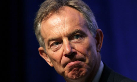 Former British prime minister Tony Blair