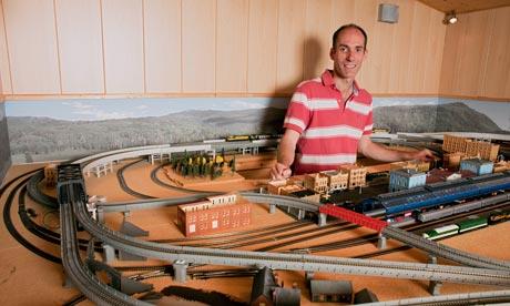 Dermot Stephens has a train set in his garage