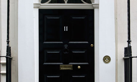 The door of Number 11 Downing Street