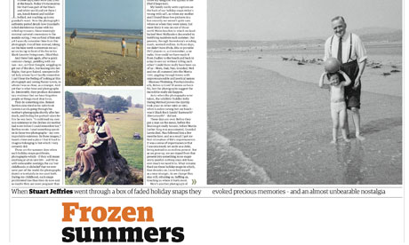 Stuart Jeffries feature on holiday snaps