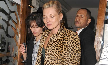 Kate Moss in animal print