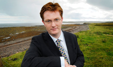 Danny Alexander on the Isle of Lewis on Thursday.