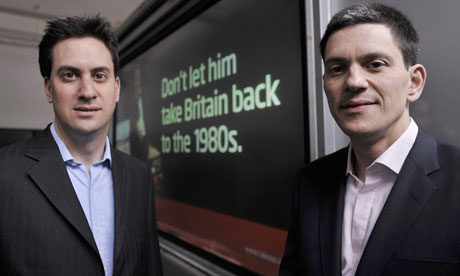 Ed Miliband (left) and David Miliband