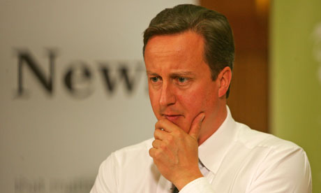 David Cameron with signs of grey hair