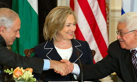 Netanyahu with Abbas and Clinton