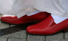 Pope Benedict's red loafers