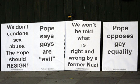 Pope protest, Twickenham