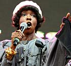 Lauryn Hill performing at Rock The Bells festival in New York