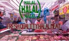 Butcher selling halal meat