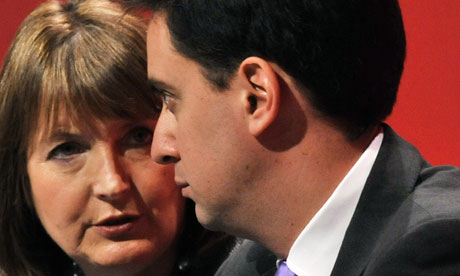 Harriiuet Harman and Ed Miliband