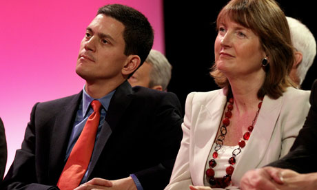 David Miliband listens to brother's Labour conference speech