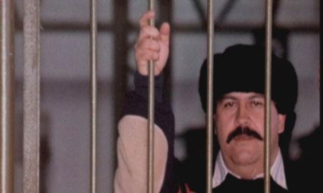 Pablo Escobar behind bars at 'La Cathedral', his private prison