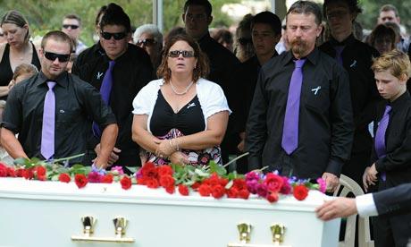 Funeral of Australia floods victim Jordan Rice
