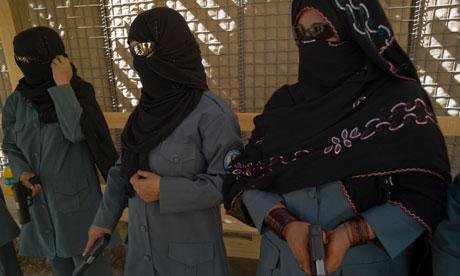 Afghan women training as polide officers