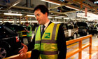 George Osborne visits the  Jaguar Land Rover plant in Solihull