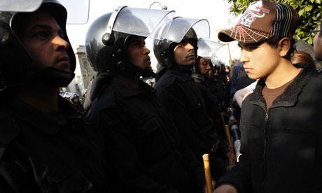 在开罗,埃及的反政府示威