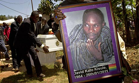 The funeral of Ugandan gay community activist David Kato