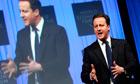 David Cameron speaking in Davos