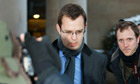 Andrew Coulson pictured leaving Glasgow high courts