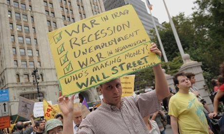 Occupy Wall Street Placard - The Guardian