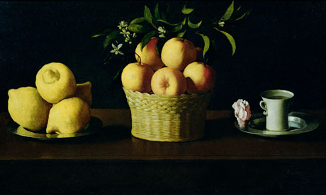 A detail from Still Life, by Francisco Zurbaran