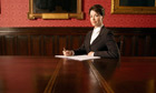 Woman in Conference Room boardroom