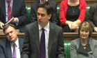 Labour leader Ed Miliband at prime minister's questions