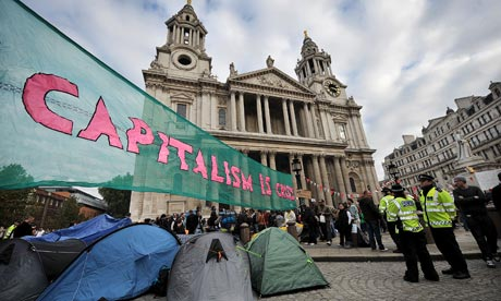 Occupy London camp in front of St Paul's Cathedral