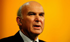 Vince Cable said export markets and energy prices have hugely affected the economy.