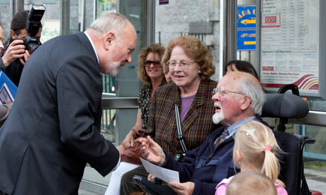 David Norris on the campaign trail in Galway