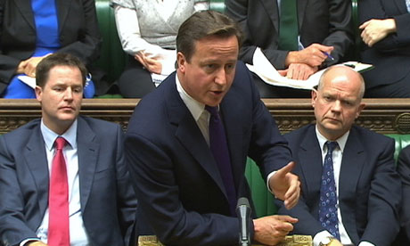 David Cameron membership of the EU to parliament