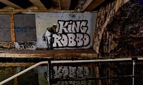 Banksy and King Robbo graffiti