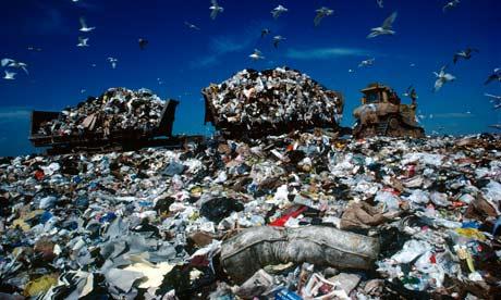 Landfill site in Staten Island, New York