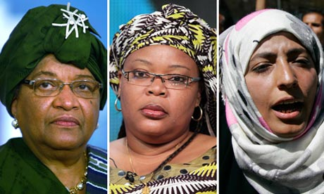 Ellen Johnson Sirleaf, Leymah Gbowee and Tawakkul Karman