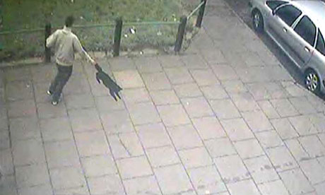 CCTV footage of man swinging cat