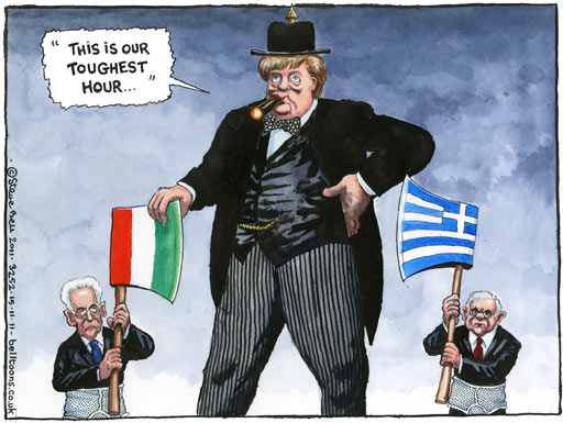 15.11.2011: Steve Bell on the Eurozone crisis