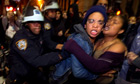 Police clear the Occupy Wall Street protestors in the early hours of Tuesday morning