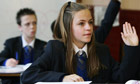 Pupils in class at Walworth Academy, south London, rated outstanding by Ofsted in December 2010
