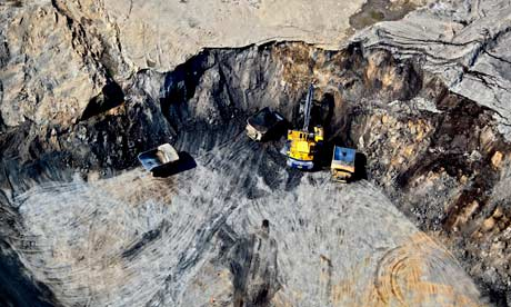 Tar Sands pit in Fort McMurray, Alberta