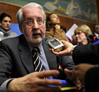 Chairperson of the UN commission of inquiry on Syria Paulo Pinheiro, at a press conference in Geneva