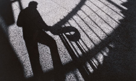 shadow of man on stairs