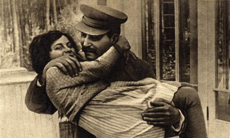Svetlana with father Joseph Stalin