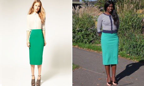 ASOS Pencil Skirt with Zip Back Detail