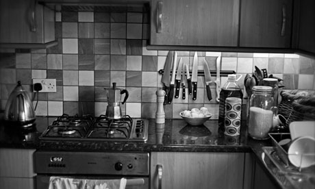 Down to the Kitchen for breakfast, and the slight tilt in this photo gives it a disorientating feel