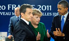 G20 Nicolas Sarkozy and Angela Merkel