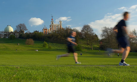 Joggers at Greenwich